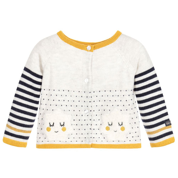 Catimin Cloud Knit Two-Way Cardigan (6m, 9m, 12m, 18m)