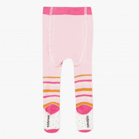 Catimini Pink Tights with Multi-colored Stripes