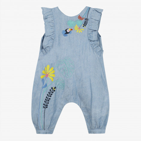 Catimini Baby Girl's Lightweight Denim Jumpsuit - NEW*