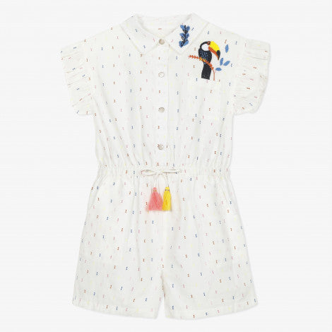 Catimini White Dotted Swiss Romper - NEW*