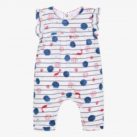 Catimini Baby Girl Striped Voile Jumpsuit (3m, 12m)