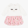 Catimini Baby Girl 2-in-1 Long Sleeve Bubble Dress with Llama Detail