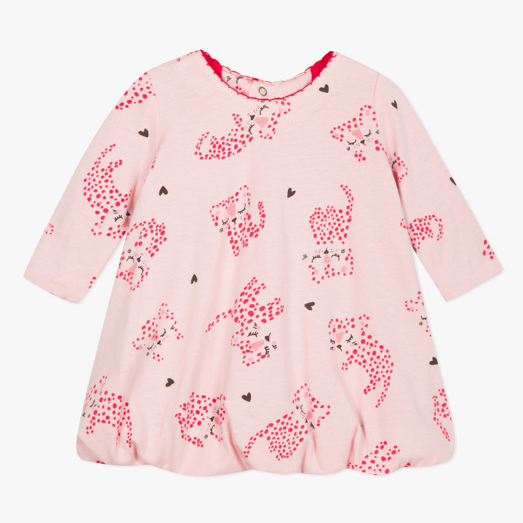 Catimini Baby Girl Panther Print Bubble Dress