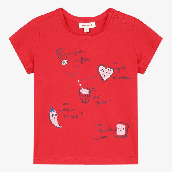 Catimini Baby Girl's T-shirt with Recipe Motif - New
