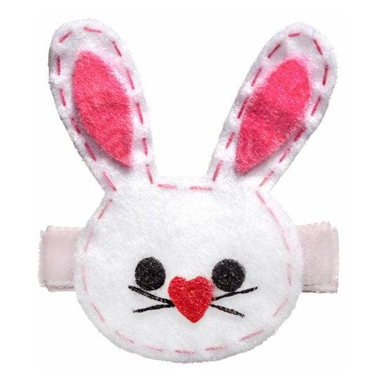 No Slippy Hair Clippy - Erika Bunny Felt Novelty Hair Clip