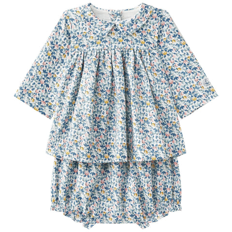 Petit Bateau Fruit Print Dress with Bloomers