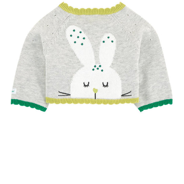 Catimini Cardigan With Rabbit Patten (3m, 6m, 18m)