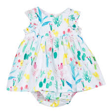 Catimini Dress and Bloomer in Printed Voile (3m, 6m)