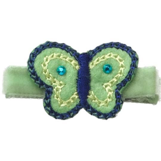 No Slippy Hair Clippy - Tilly Lime Butterfly Novelty Hair Clip