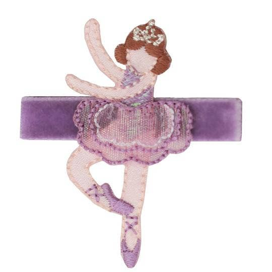 No Slippy Hair Clippy - Hannah Lavender Dancer Novelty Hair Clip