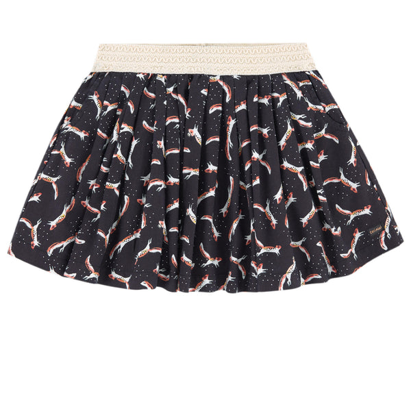 Catimini Fox Pattern Printed Skirt