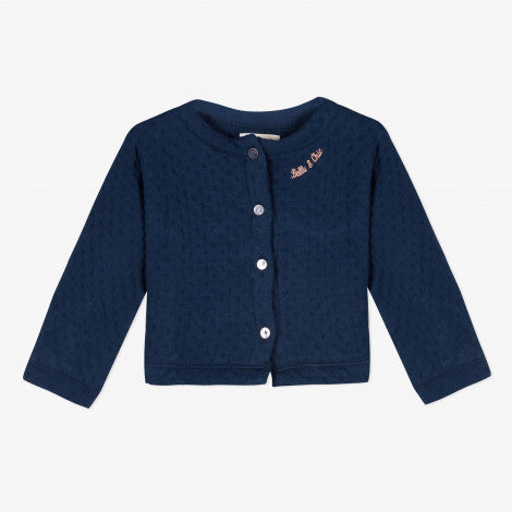 Catimini Baby Girl's Navy Blue Cardigan