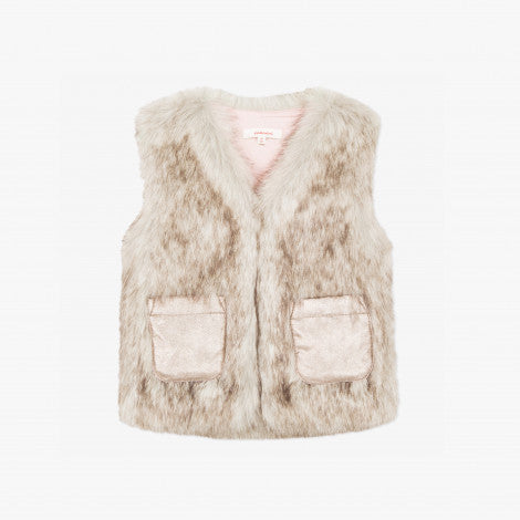 Catimini Girl Faux Fur Vest