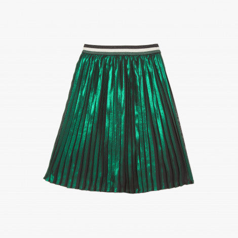 Catimini Girl's Green Mid-length Pleated Skirt (Size 4, 14)