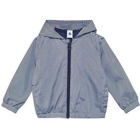 Petit Bateau Navy Striped Windbreaker