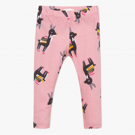 Catimini Little Girl Llama Print Leggings