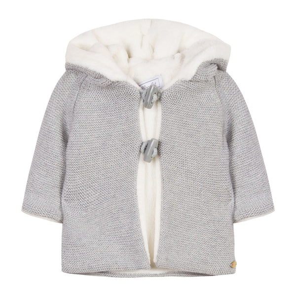 Tartine et Chocolat Marl Coat with Fur Lining