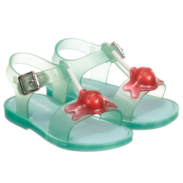 Mini Melissa Mini Mar Sandal II in Green Jelly