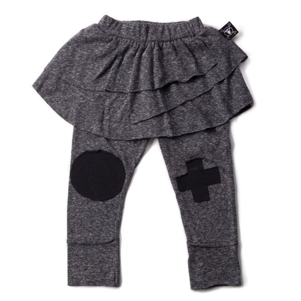 Nununu Patch Leggings Skirt Charcoal (6-12m, Size 4-5)