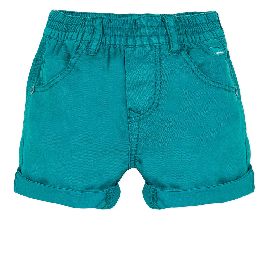 Catimini Baby Boy Overdyed Bermuda Shorts in Emeraude (6m, 12m, 18m, 2Y)