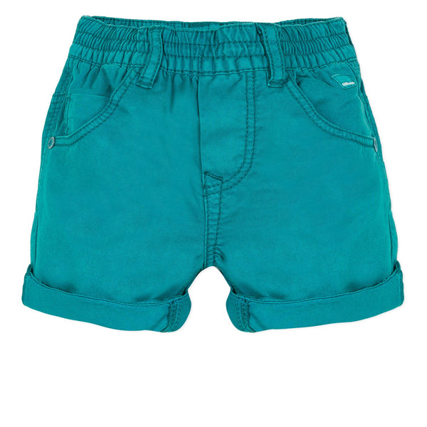 Catimini Baby Boy Overdyed Bermuda Shorts in Emeraude (6m, 12m, 18m)