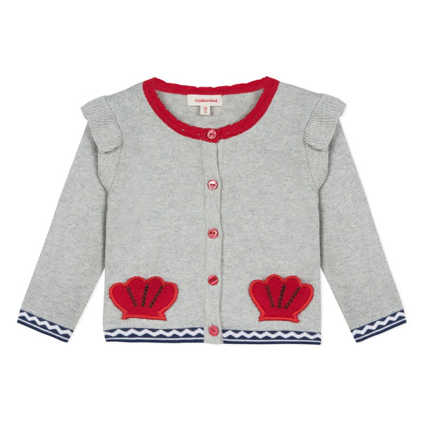 Catimini Baby Girl Fancy Cardigan with Lurex Thread (3m - 4T)