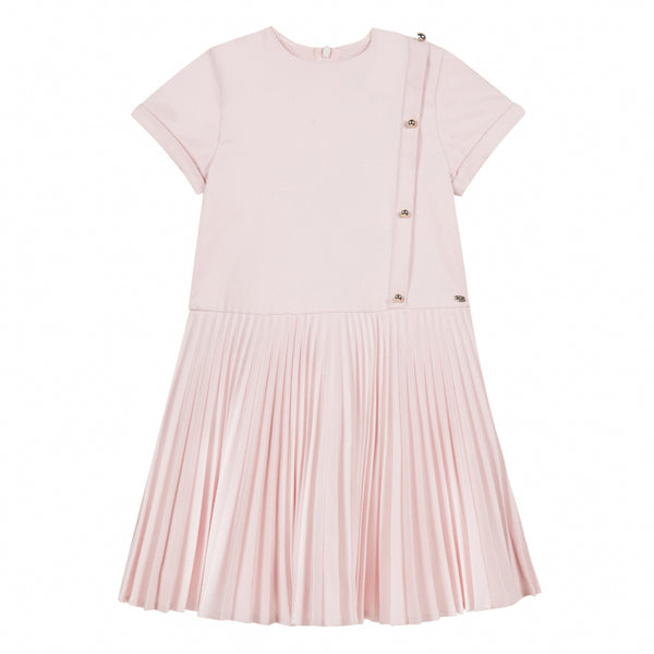 Tartine et Chocolat Pink Pleated Dress