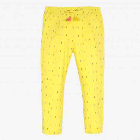 Catimini Girl's Yellow Dotted Swiss Pants - NEW*