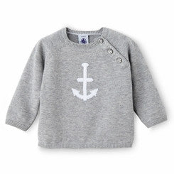 Petit Bateau Baby Cotton Knit Anchor Sweater Sold Out