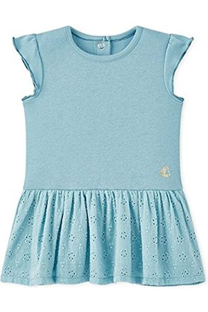 Petit Bateau Baby Girl Short Sleeve Eyelet Skirt Dress in Mint (3m, 6m, 12m, 18m, 24m)