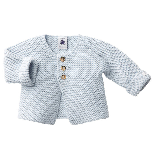 Petit Bateau Baby Cardigan in Light Blue (12m)