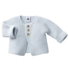 Petit Bateau: Baby Knit Cardigan in Light Blue