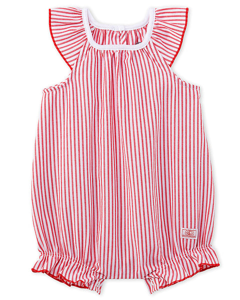 Petit Bateau Girl's Bloomer Onesie with Frills (12m, 18m)