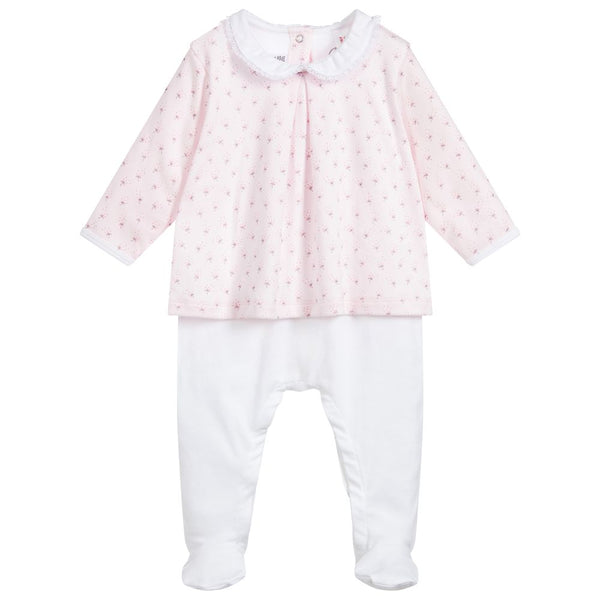 Petit Bateau BABY GIRL SLEEVLESS FLORAL COVERALL