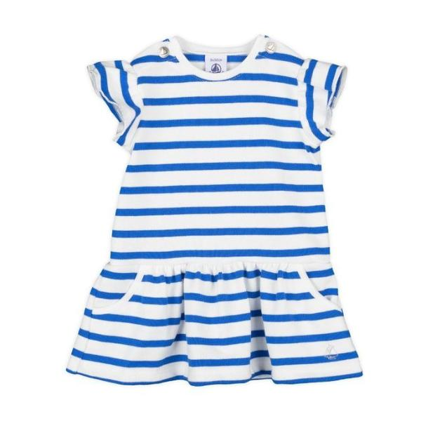 Petit Bateau Girl's Striped Dress (6m -36m)