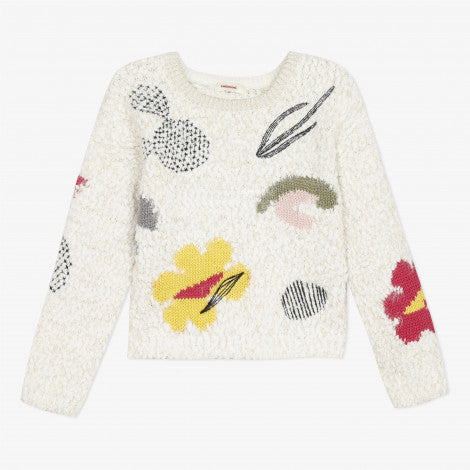 Catimini Girl Graphic Embroidered Jacquard Sweater
