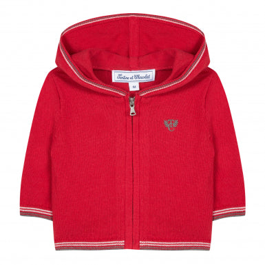 Tartine et Chocolat Baby Boy Red Hooded Jacket