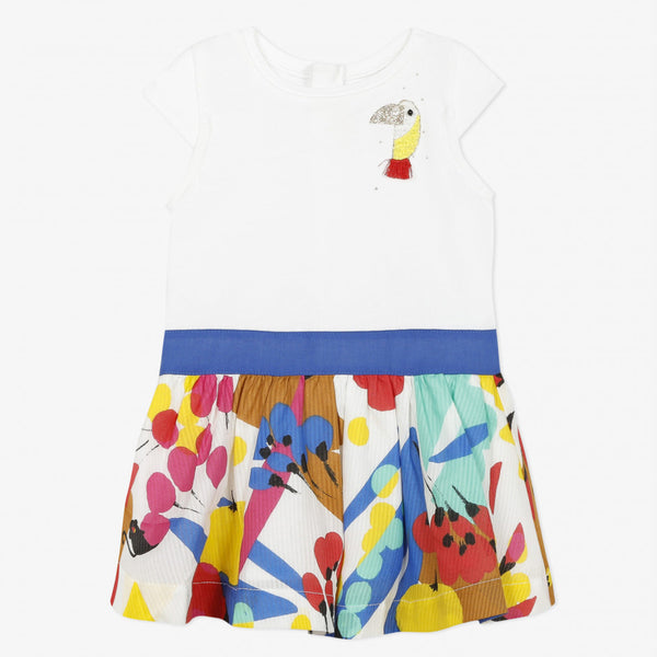 Catimini Baby Girl's  Printed Jersey and Percale Two-fabric Dress
