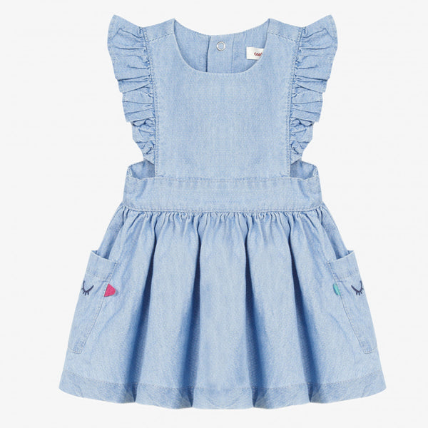 Catimini Baby Girl's Light Fancy Denim Dress