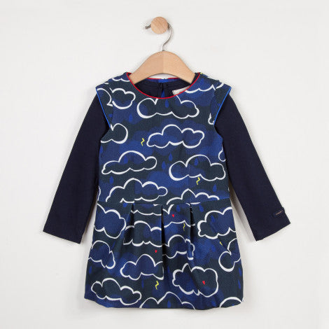 Catimini 2-in-1 Printed pPiqué Dress (Size 5, 6, 8)
