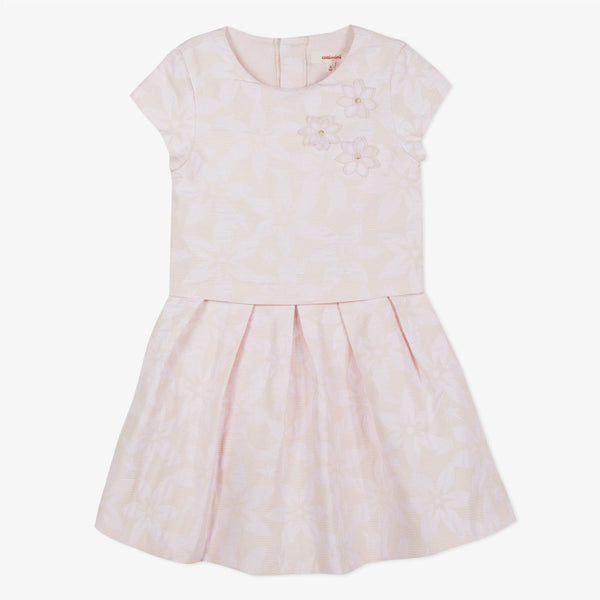 Catimini Smart dress in Powder Pink Jacquard