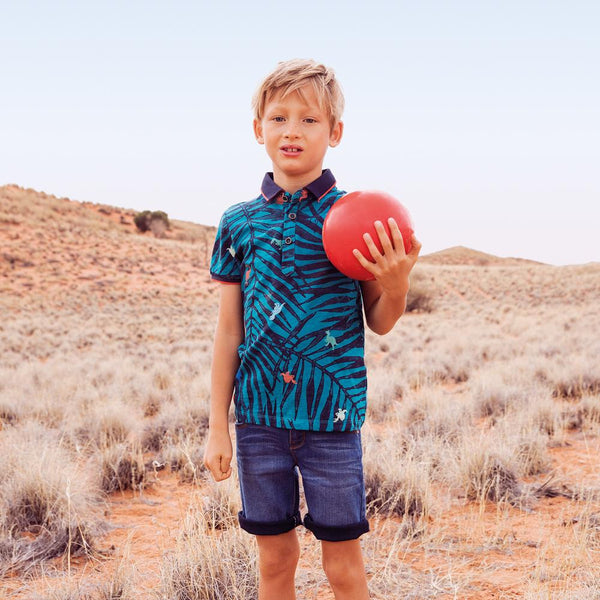 Catimini Boy's Polo shirt with Jungle Print (Size 6)