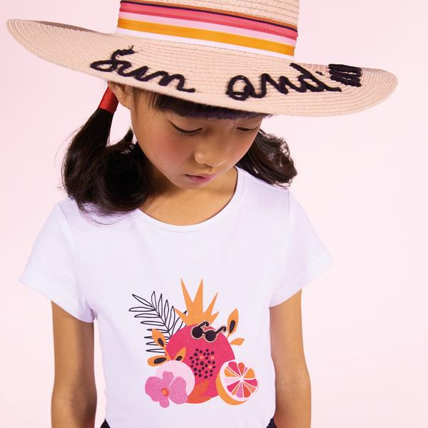 Catimini Girl's T-shirt with Fruity Pattern (Size 5, 10)