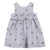 Tartine et Chocolat Little Girl Striped Pinafore Dress