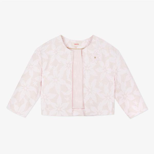 Catimini Smart Jacket in Powder Pink Jacquard
