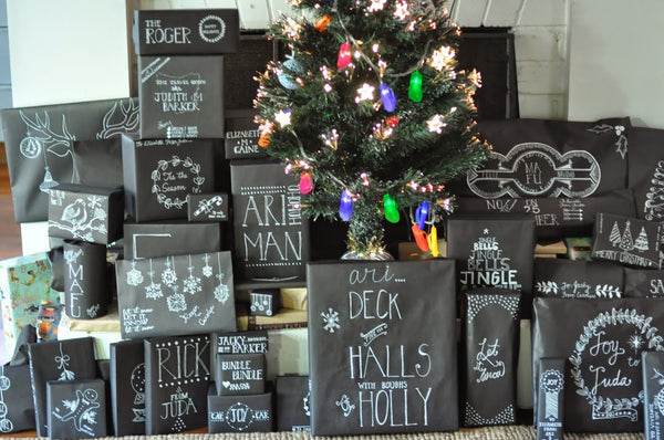 chalkboard wrapping
