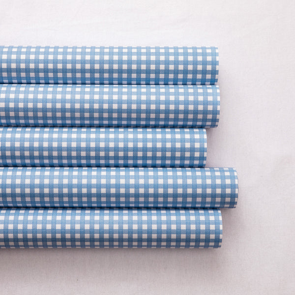 Wrapping Paper French Blue Check