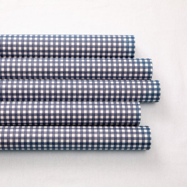 Wrapping Paper Navy Check