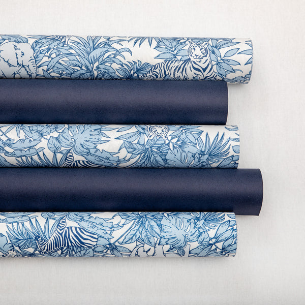 Wrapping Paper French Blue Safari