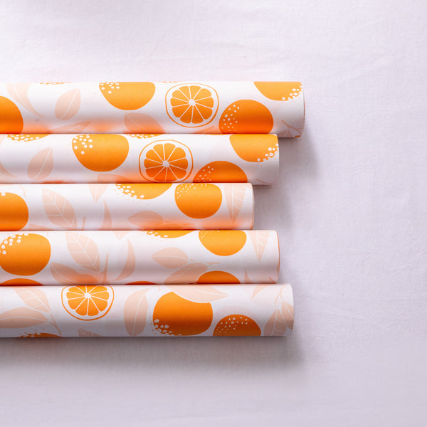Wrapping Paper Blush Oranges